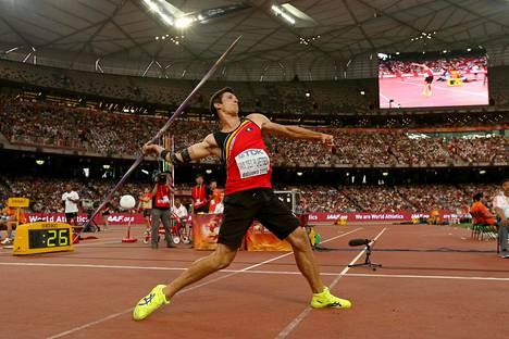 Thomas van der Plaetsen kilpaili Pekingin MM-kisojen kymmenottelussa elokuun lopussa tänä vuonna.