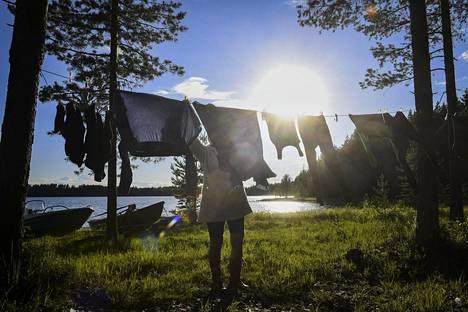 Siitepöly voi tarttua ulkona pyykkeihin herkästi.