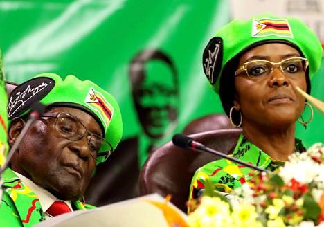 Kuva Zanu-PF:n nuorten siiven kampanjatilaisuudesta lokakuun alusta.