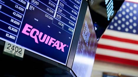 Equifaxin osakekurssi on ollut syöksykierteessä tietoturvakatastrofin julki tulemisen jälkeen.
