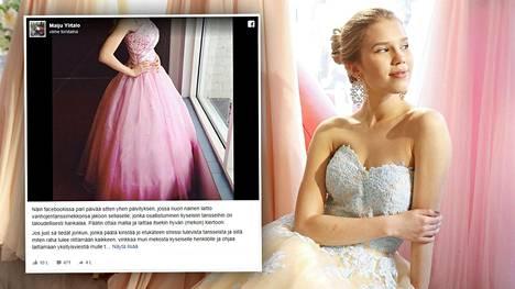 Vanhojentanssimekko voi maksaa uutena useita satoja euroja. Mallina Meslewin mekossa helmikuussa vanhat tanssinut Siiri Hautamäki.
