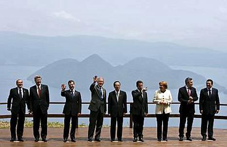 G8-maiden johtajat.