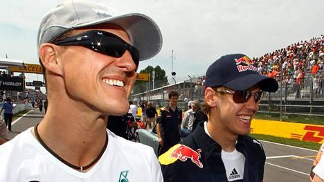 Michael Schumacher ja Sebastian Vettel Saksan GP:ssä 2010.