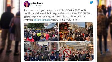 Muun muassa Twitterissä on kommentoitu Nottinghamin joulumarkkinoita.