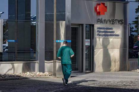 Suomessa on raportoitu koronataudin ryvästymistä muun muassa Keski-Suomessa, Mikkelin alueella ja Kainuussa. Kuva Keski-Suomen keskussairaalasta Jyväskylästä.