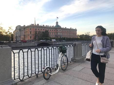 Mihailin palatsi Pietarissa Fontanka-joen varrella.