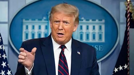 Yhdysvaltain presidentti Donald Trump aloitti päivittäiset koronatiedotustilaisuudet uudestaan.