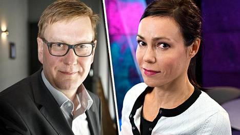 Yleisradion päätoimittaja Atte Jääskeläinen ja toimittaja Susanne Päivärinta.
