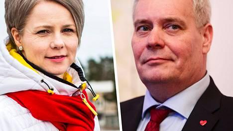 Heta Ravolainen-Rinne ja Antti Rinne ovat olleet aviossa pian vuosikymmenen.