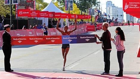 Rita Jeptoo voitti lokakuussa Chicagon maratonin.