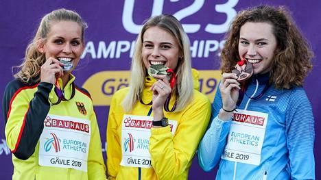 Ella Junnila (oik.) nappasi Suomen ainoan mitalin alle 23-vuotiaiden EM-kisoista.