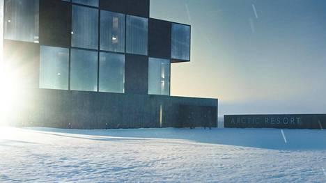 Ivalo-sarjan hotelli on tehty tietokoneella. Lopputulos on uskottava, sillä monet ovat etsineet sitä netistä.