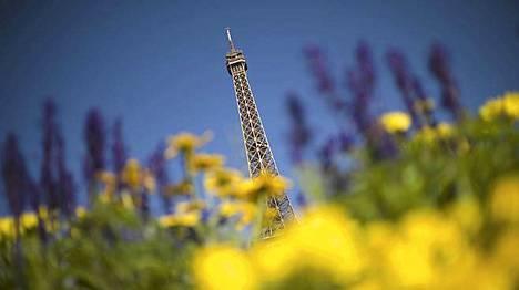 Eiffel-torni. Pariisin tärkein nähtävyys.