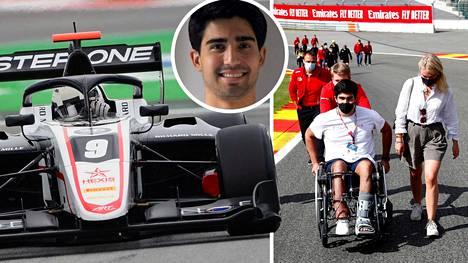 Toissa kesänä vakavaan onnettomuuteen joutunut Juan Manuel Correa palasi kilparadalle.