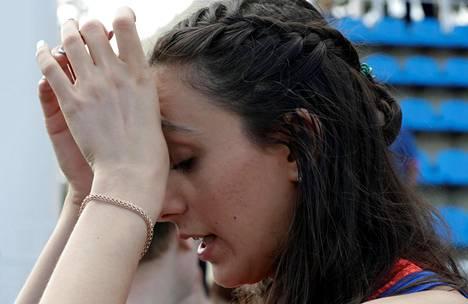 Maria Kutshina on korkeushypyn hallitseva maailmanmestari. Hänkään ei pääse Rion olympialaisiin.