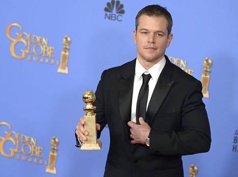 Matt Damon voitti parhaan elokuvanäyttelijän palkinnon komediasta Yksin Marsissa.