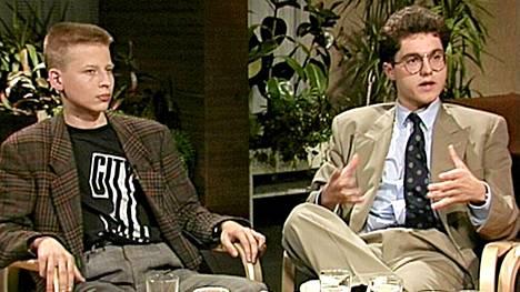 Nuoret menestyjät Sam Inkinen ja Mika D. Rubanovitsch vuonna 1989.