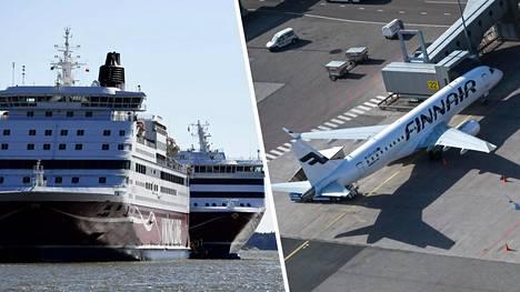 Miten käy kotimaisille Finnairille ja Viking Linelle, jos kriisi jatkuu loppuvuoden?