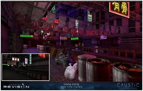 Deus Exän tarina vie New Yorkista Hong Kongiin ja Pariisiin. Revisionin Hong Kong näyttää huomattavasti paremmalta kuin alkuperäinen.
