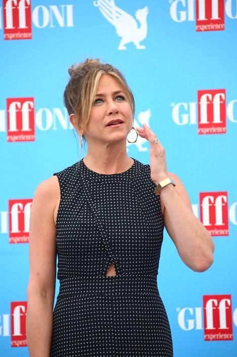 Jennifer Aniston vieraili Italiassa elokuvajuhlilla.