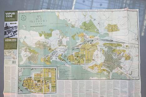 Viipurin Kartta 1930 Luvun Viipurista Tehtiin Hieno