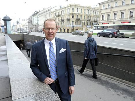 Venäjä tuo 10-12 prosenttia Itellan liikevaihdosta. Heikki Malinen vieraili Pietarissa kesäkuun alussa.