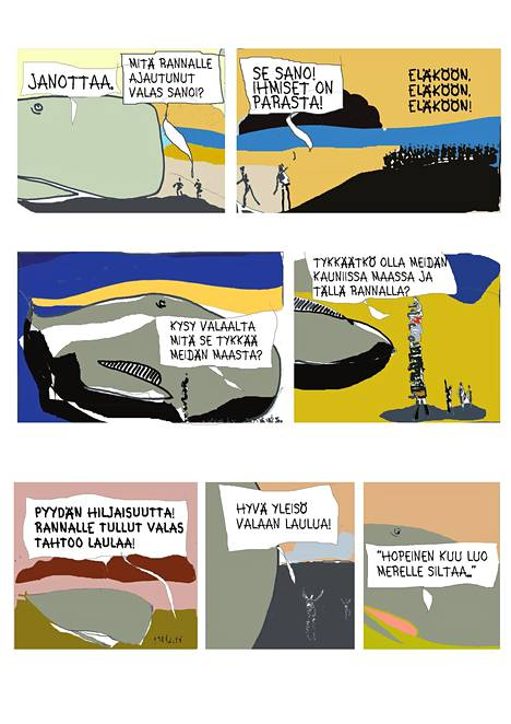 Jussi Waltameren teoksia.