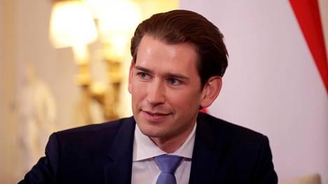 Itävallan liittokansleri Sebastian Kurz kuvattiin Lontoossa 25. helmikuuta 2020.