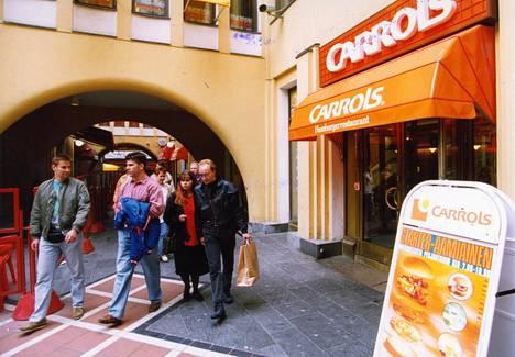 Carrols oli ensimmäinen hampurilaisravintola monessa suomalaiskaupungissa.