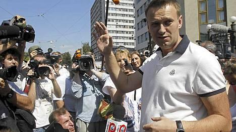 Aleksei Navalnyi puhui medialle poistuttuaan oikeussalista.