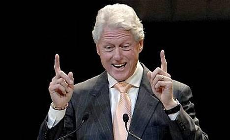 Yhdysvaltain entinen presidentti Bill Clinton jäi Kimin taakse.