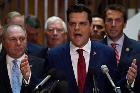 Floridalainen kongressiedustaja Matt Gaetz kertoi johtaneensa tempausta.