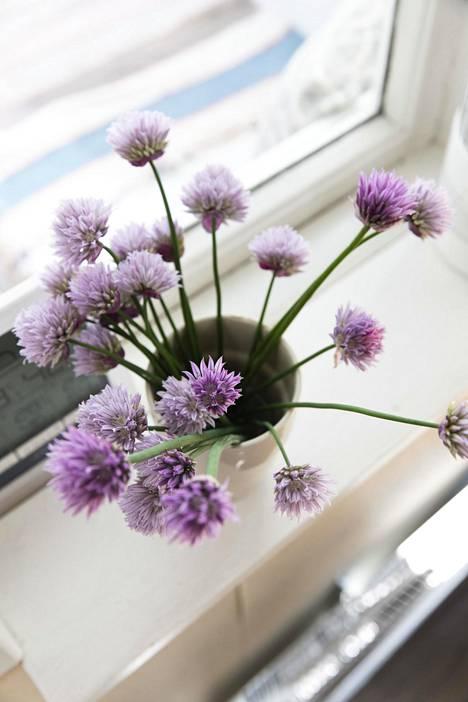 Kukat luovat suloista tunnelmaa.
