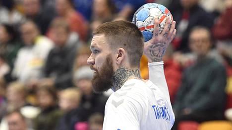 Teemu Tamminen on Suomen käsipallomaajoukkueen avainpelaajia.