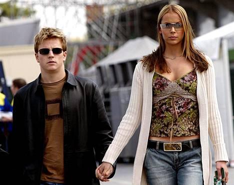 Kimi ja Jenni Dahlman Imolassa 17. huhtikuuta 2003.