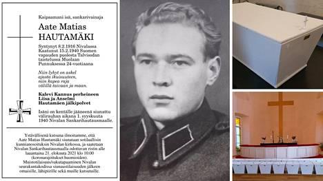 Kalevi Kannus sai 24-vuotiaana kaatuneen isänsä Aate Hautamäen kotiin vihdoin. Kuolinilmoitus julkaistiin 11. elokuuta.