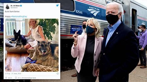 Joe ja Jill Biden tuovat koirat takaisin Valkoiseen taloon.