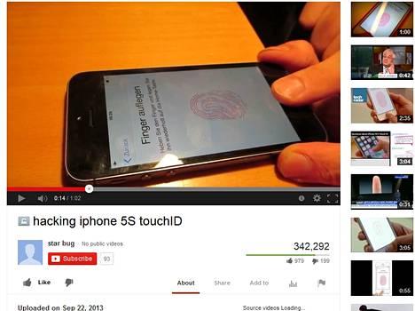 CCC julkaisi Youtubessa videon iPhone 5S:n sormenjälkitunnistuksen ohittamisesta.