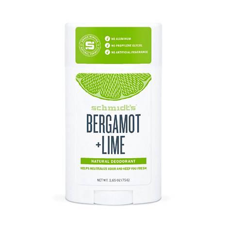 Schmidt's Bergamot + Lime -deodoranttipuikko, 12,95 € / 75 g, mm. Ruohonjuuri.