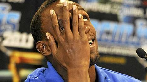 Jamaikan Usain Bolt on huumorintajuinen veijari.