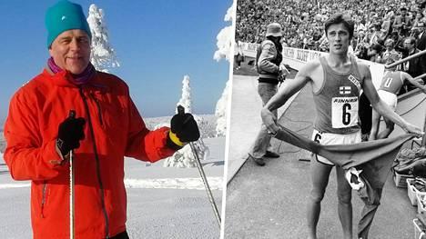 Ari Paunonen vuonna 1977 ja 40 vuotta myöhemmin.