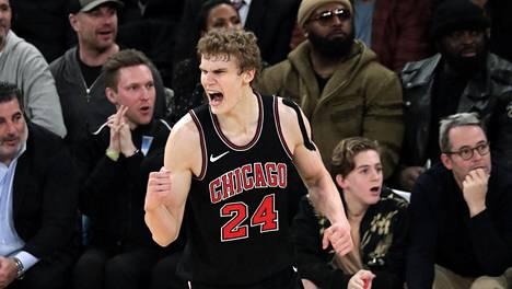 Lauri Markkanen äityi harvinaisiin tuuletuksiin NBA-parketilla.