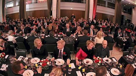 Ilta-Sanomien 80-vuotisjuhlat pidettiin ravintola Bankissa.