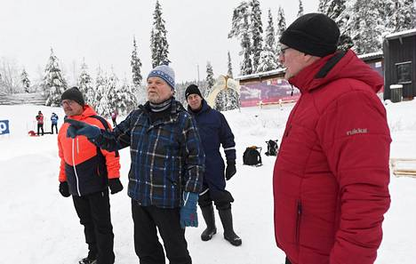 Timo Portaankorva, Arimo Sillanpää, Juha Järvi ja Kaj Jacobson seurasivat kisoja Rukalla.