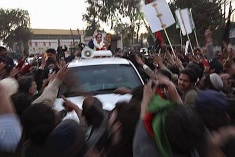 Benazir Bhuttosta saatiin kuva juuri ennen hänen kuolemaansa.