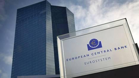 Euroopan keskuspankin pääkonttori Frankfurtissa Saksassa.