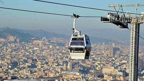Särkänniemeen suunnitellaan hiihtohissin tapaista rataa, kuten kuvassa Barcelonassa.