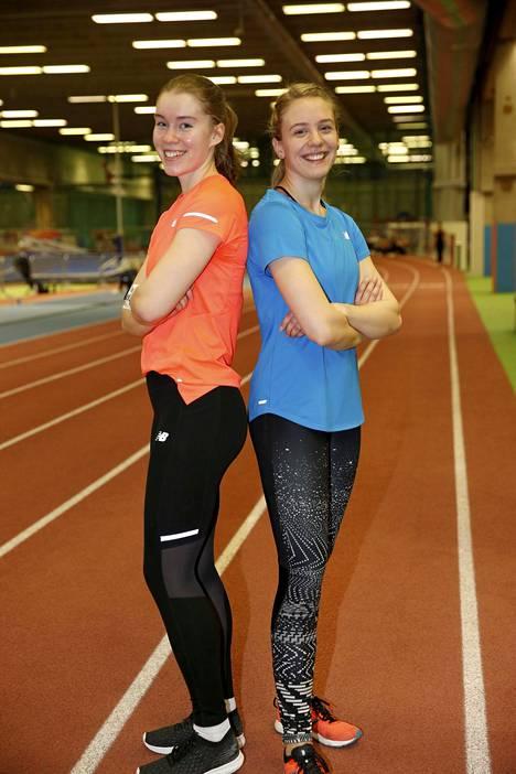 Nea Mattila ja Lotta Kemppinen panostavat urheilun lisäksi akateemisiin opintoihinsa.