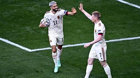Belgia voitti Tanskan 2–1.