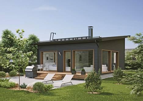 Rakennus on rakennettu samoilla rakenteellisilla ratkaisuilla kuin isot ok-talot.